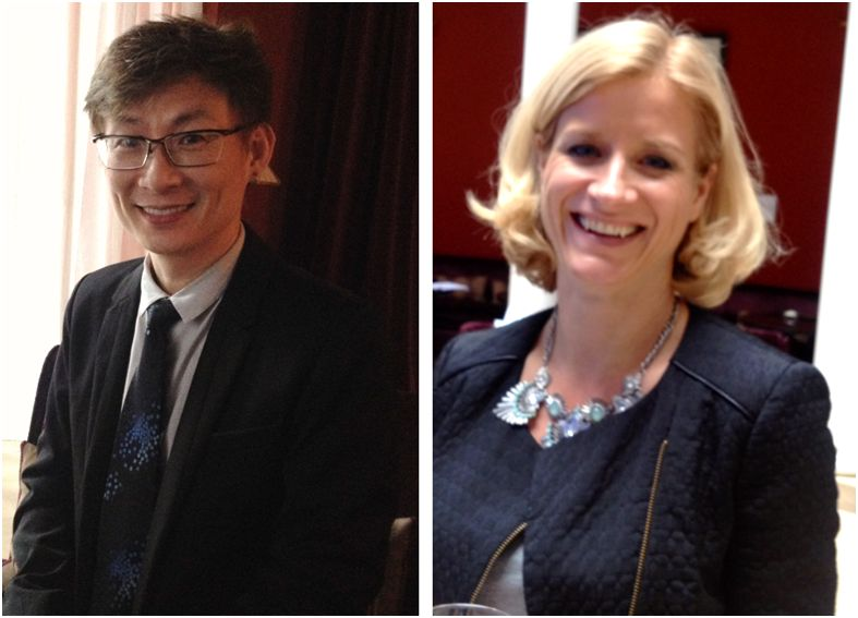 dr Chen from Taipei and Frauke Neuser from PG