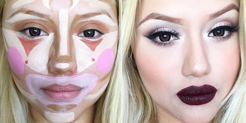 Clown Contouring make-up contouring